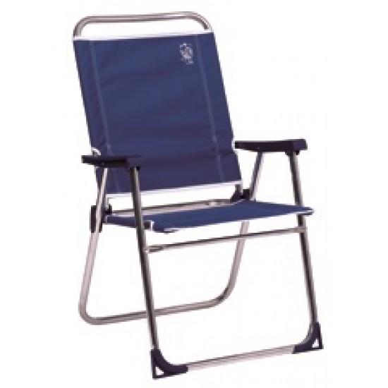 Cadeira alumínio alta fixa poliéster 88x57x30cm 637al