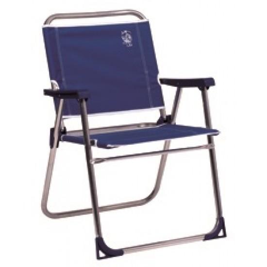 Cadeira alta fixa alumínio poliéster 74x54x26cm 639al