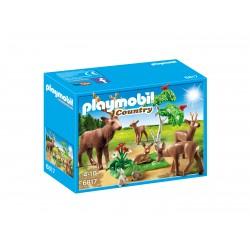 Playmobil familia de cervos 6817