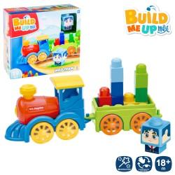Comboio com blocos de construção 28X11X25 CM - 700331
