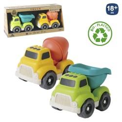 Conjunto de camiões recicláveis 18 X 11 X 13 CM - 700526