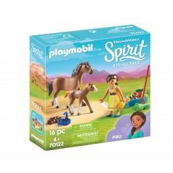 Playmobil cavalo spirit e potro 70122