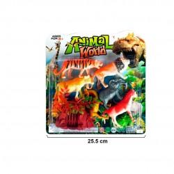 Animais do zoo 10/12cm  em blister 9 peças 70254