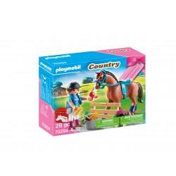 Playmobil menina com cavalo country 70294