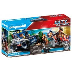 Playmobil carro todo terreno mais moto da city action 70570