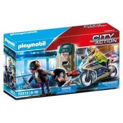 Playmobil city action policia perseguir ladrão 70572