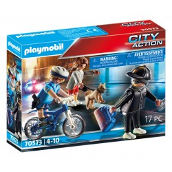 Playmobil city actio bicicleta policia e ladrão 70573