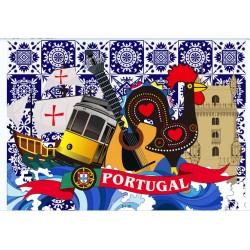 Imans portugal em metal 7*5cm 8432091