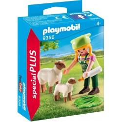 Playmobil camponesa com ovelhas 9356