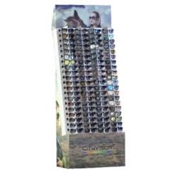 Expositor de óculos em cartão 80 unidades 179*68*34cm ac01083