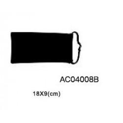Bolsa para óculos preta 18*9cm ac04008