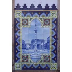 Trabalhos em azulejo e pintura Portuguesa manualmente