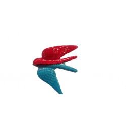 Andorinhas grandes louça cores 12*14cm Ap3