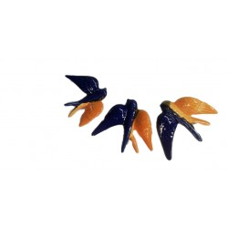 Andorinhas pequena louça cores 9*9.5cm ap1