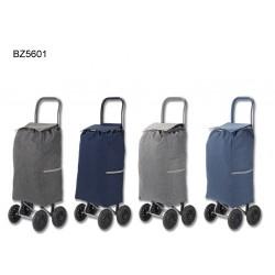 Carro de compras em poliester com 4 rodas 31*56*20cm bz5601