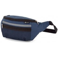 Bolsa cintura em poliester com bolso e fecho  37*14*11cm bz5608