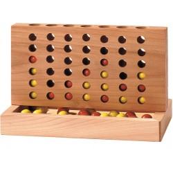 Jogo madeira 4 em linha 15,5 x 8,5 x 10 cm hs035