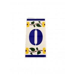 Azuleijo com letras e numeros 6*11.5cm