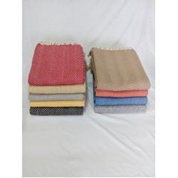 Manta nacional 100% algodão espinha 135*200cm