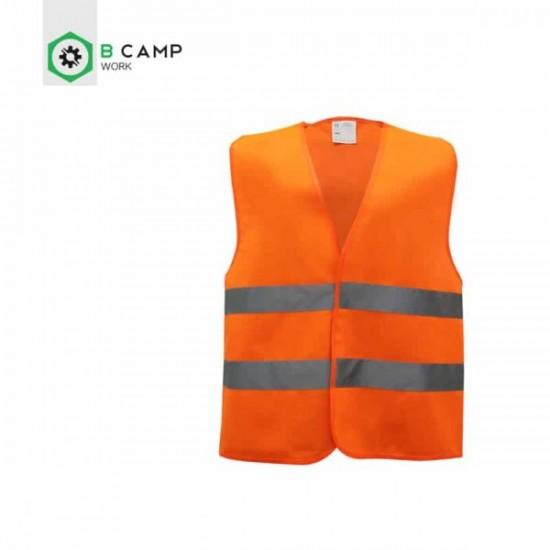 Colete reflector verde ou laranja 100% poliester y01t01