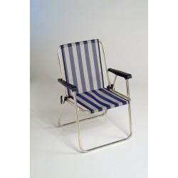 Cadeira alumínio alta fixa 73x53x24 cm  621ALF