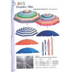 Chapéu sol inclinado poliéster proteção UV 1.80 cm 43172