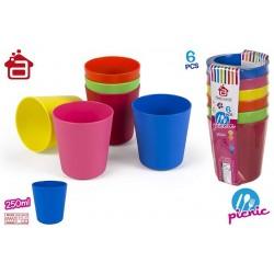 Conjunto de 6 copos plastico 16330