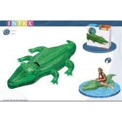 Crocodilo insuflável intex 168*86 cm 58546