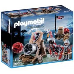 Playmobil med. cavaleiros falcão c/canhão 6038